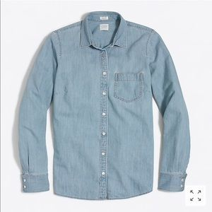 J. Crew Pocket Chambray Button down shirt size M